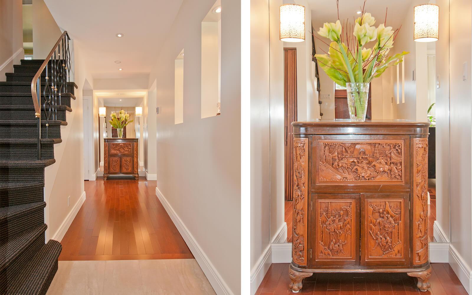 Décoration et aménagement corridor et escalier