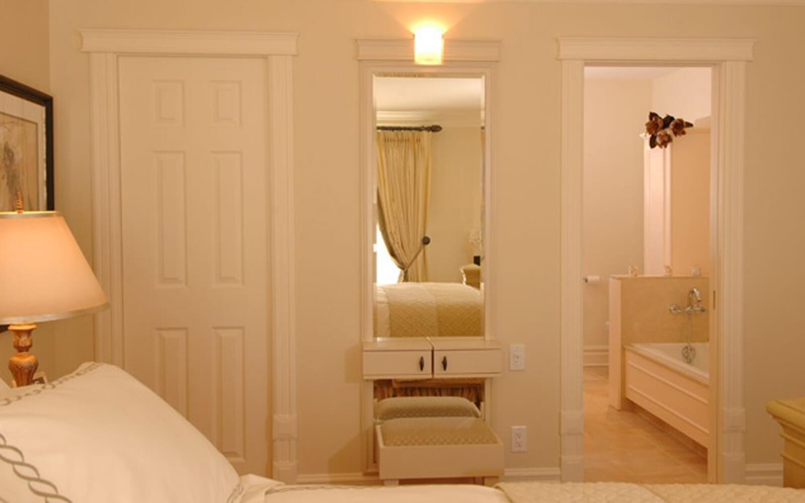 Décoration d'intérieur chambre couleur crème