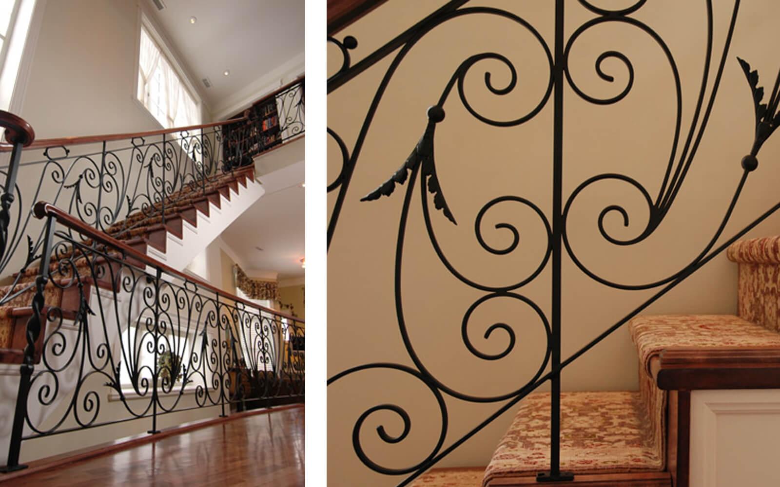 escalier design rampe métal