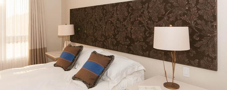 tête de lit texture floral