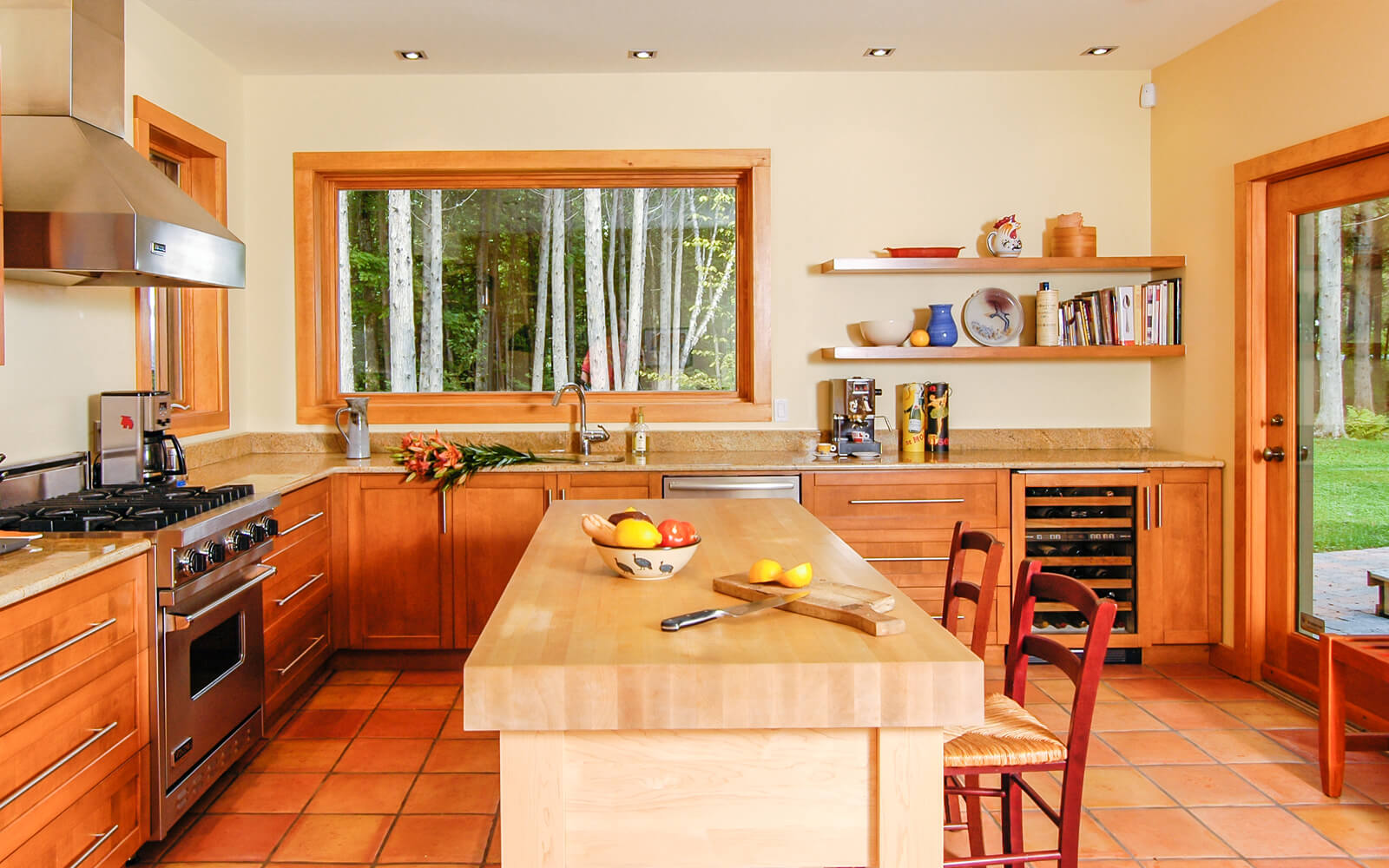 Rénovation d'une cuisine inspirée par la nature