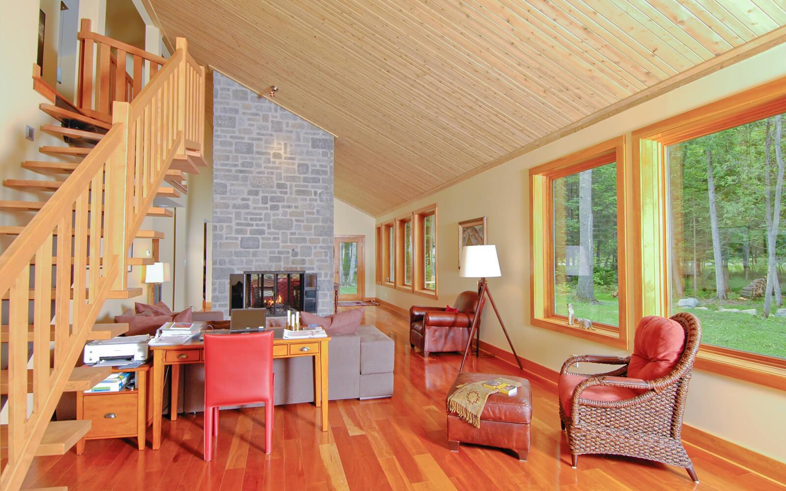 Décoration séjour décor nature foyer