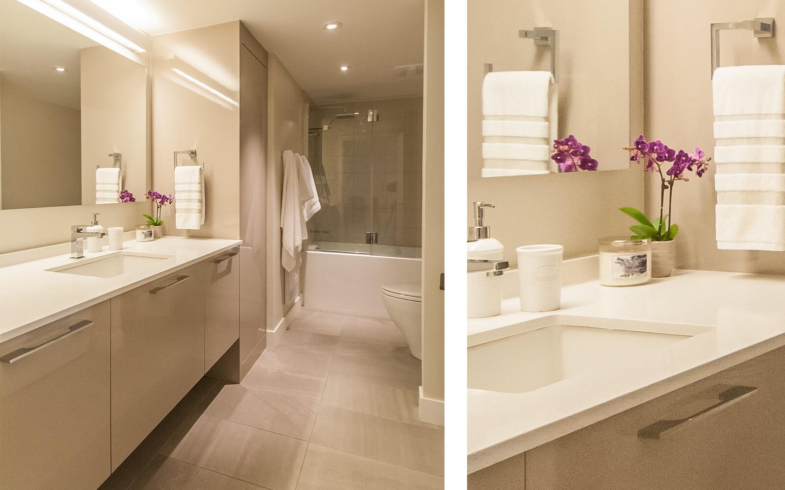 décoration salle de bain comptoir