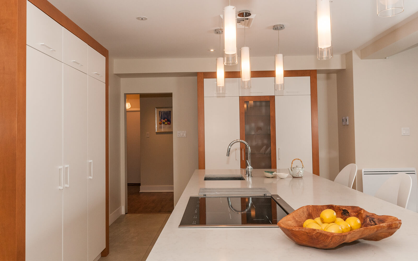 Aménagement rénovation cuisine comptoir