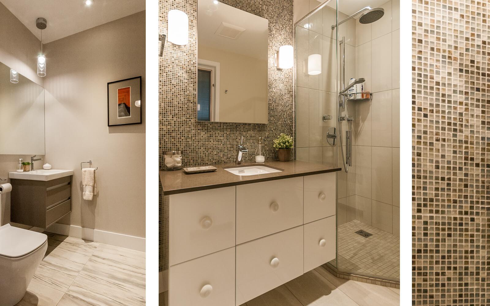 Décoration salle de bain détail céramique
