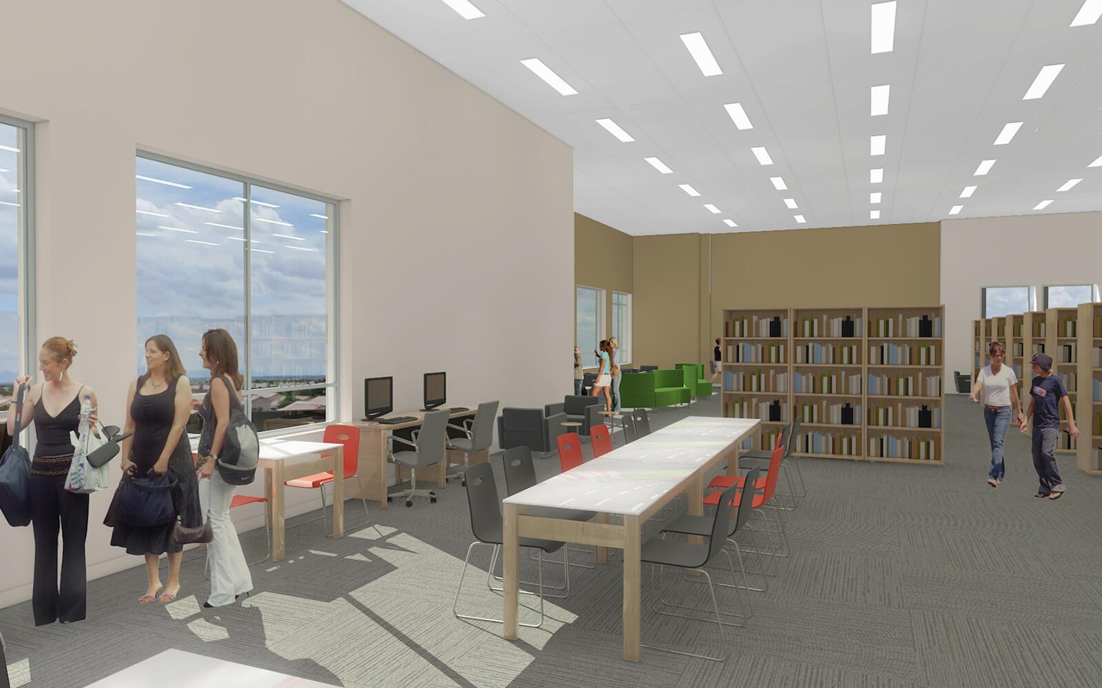 Mobilier intégré à la bibliothèque de St-Constant