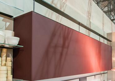 modèle d'armoire de cuisine présenté au salon eurocucina