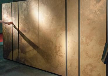 modèle d'armoire de cuisine présenté au salon d'eurocucina