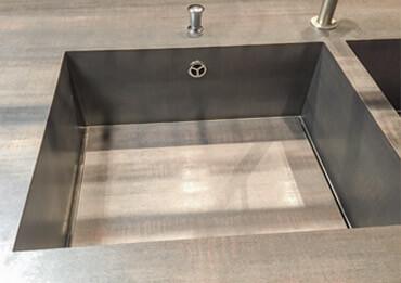 modèle d'évier présenté au salon eurocucina