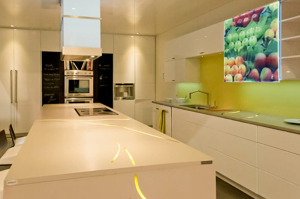 Exemple de design de cuisine le soir