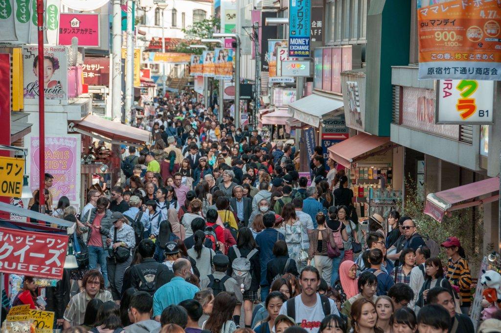 shopping dans la rue Takeshita