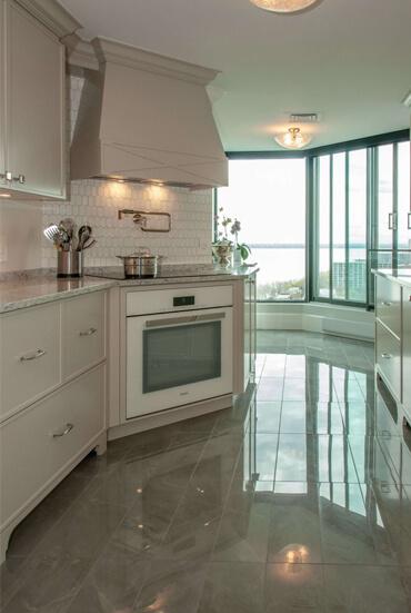 Rénovation de la cuisine d'un penthouse à Montréal