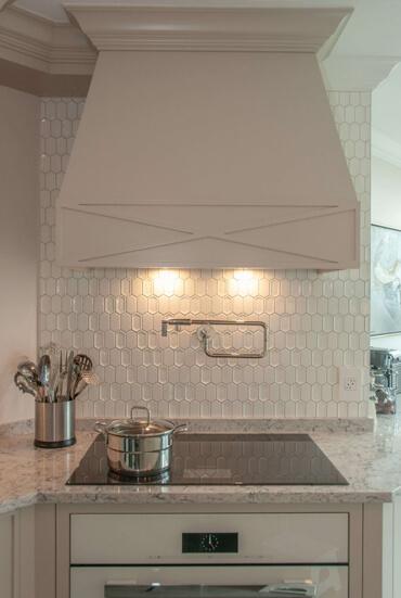 Nouvelle cuisine moderne dans un penthouse de Montréal