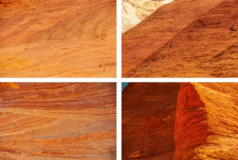 La diversité des couleurs de l'ocre